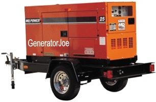 Generatorjoe 25 kw mobile generartor