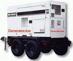 GeneratorJoe 60 kw mobile generator