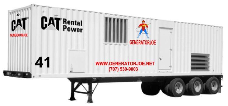 GeneratorJoe 2000 kW mobile generator
