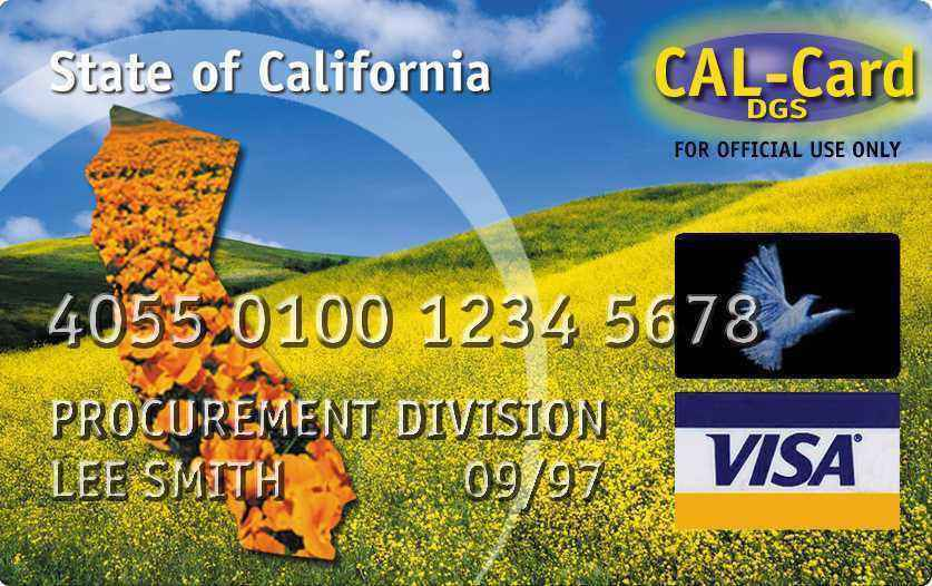 Cal Credit Card Sign