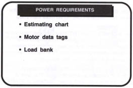 determine load requirements