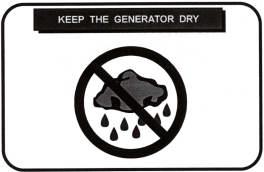 keep generator dry