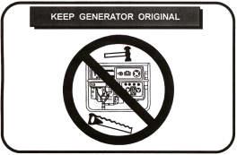 keep generator original