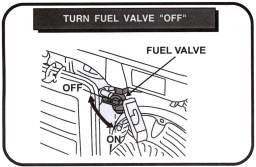 turn fuel valve off